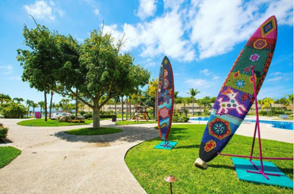 Tabla Surfing Arte Huichol Hotel B Nayar Riviera Nayarit Resort Todo Incluido