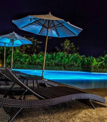 Alberca Noche Hotel B Nayar Riviera Nayarit Resort Todo Incluido